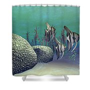 Angelfish Shower Curtain