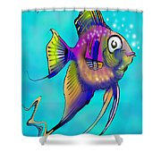 Angelfish Shower Curtain