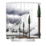 Angelic Bath Shower Curtain