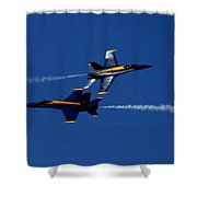 Angelic Convergence Shower Curtain