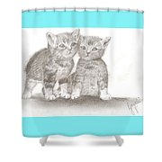 Angelic Kittens Shower Curtain