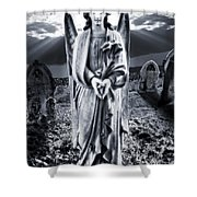 Angelic Light Shower Curtain by Meirion Matthias