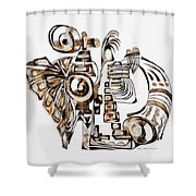 Angelic Tube 3636 Shower Curtain