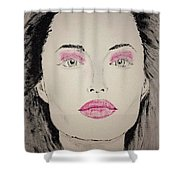Angelina Jolie As Maleficent Shower Curtain