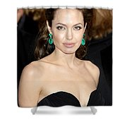 Angelina Jolie Shower Curtain by Nina Prommer