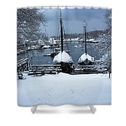Angelique And Lewis R French In The Snow Shower Curtain