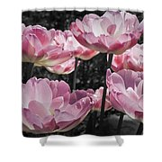 Angelique Peony Tulips Shower Curtain