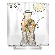 Angelita Blanco Shower Curtain