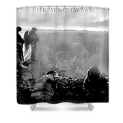 Angels And Brothers Black And White Shower Curtain