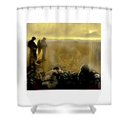 Angels And Brothers Shower Curtain