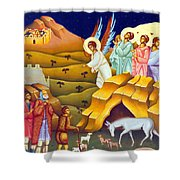 Angels And Shepherds Shower Curtain