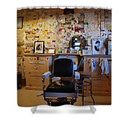 Angel's Barber Shop On Route 66 Shower Curtain