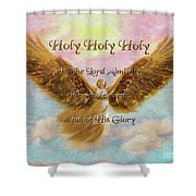 Angels Cry Holy Shower Curtain