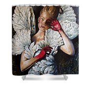 Angel's Dont Cry. Shower Curtain