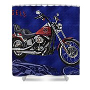 Angels Harley - Oil Shower Curtain
