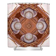 Angels In The Outfield Shower Curtain by Maria Watt