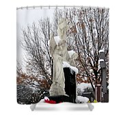 Angels In The Winter Shower Curtain