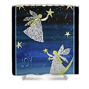 Angels, Joy, Lucky Stars Shower Curtain
