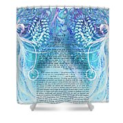 Angels Ketubah-reformed And Interfaith Version Shower Curtain