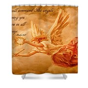Angels On Guard Shower Curtain
