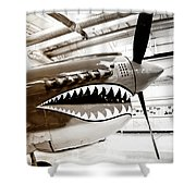 Anger Management Bw Palm Springs Air Museum Shower Curtain