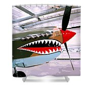 Anger Management Palm Springs Air Museum Shower Curtain