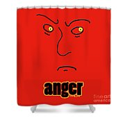 Anger Shower Curtain