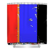 Angie Dickinsons Collage Young Billy Young Old Tucson Az 1968-2014 Shower Curtain
