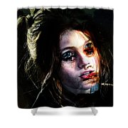 Angie, She Loves Stories Shower Curtain