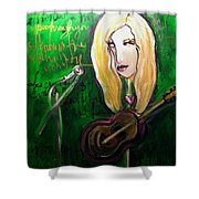 Angie Stevens Solo Shower Curtain