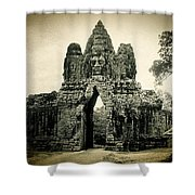 Angkor Thom Southern Gate Shower Curtain