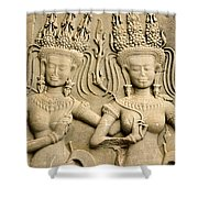 Angkor Wat Relief Shower Curtain