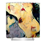 Angle File Shower Curtain