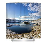 Angle Tarn Shower Curtain
