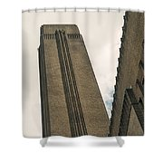 Angled Frame Shower Curtain