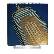 Angled View Of Central Plaza At Sunset Shower Curtain