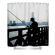Angler In The Port City Of Kaohsiung Shower Curtain