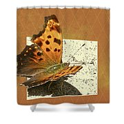 Anglewing Butterfly Shower Curtain