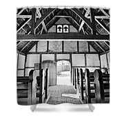 Anglican Church At James Fort Interior Shower Curtain