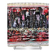 Angry City 2 Shower Curtain