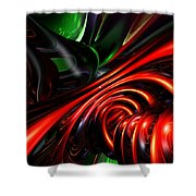 Angry Clown Abstract Shower Curtain