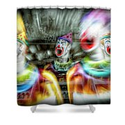 Angry Clowns Shower Curtain
