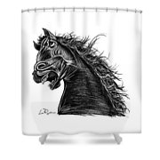 Angry Horse Shower Curtain