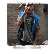 Angry Man Part II Shower Curtain