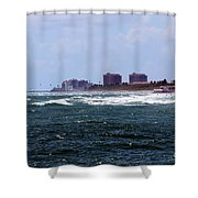 Angry Ocean Shower Curtain