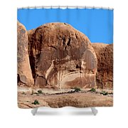 Angry Rock - 3  Shower Curtain