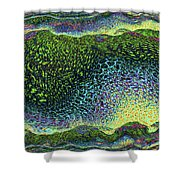 Angry Sea Shower Curtain