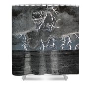 Angry Skies Shower Curtain