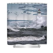 Angry Waters Of Lake Ontario Shower Curtain