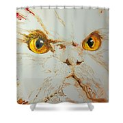 Angry Cat. Shower Curtain